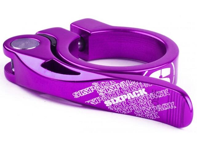 Sixpack Menace Sadelklemme Ø34,9mm violet